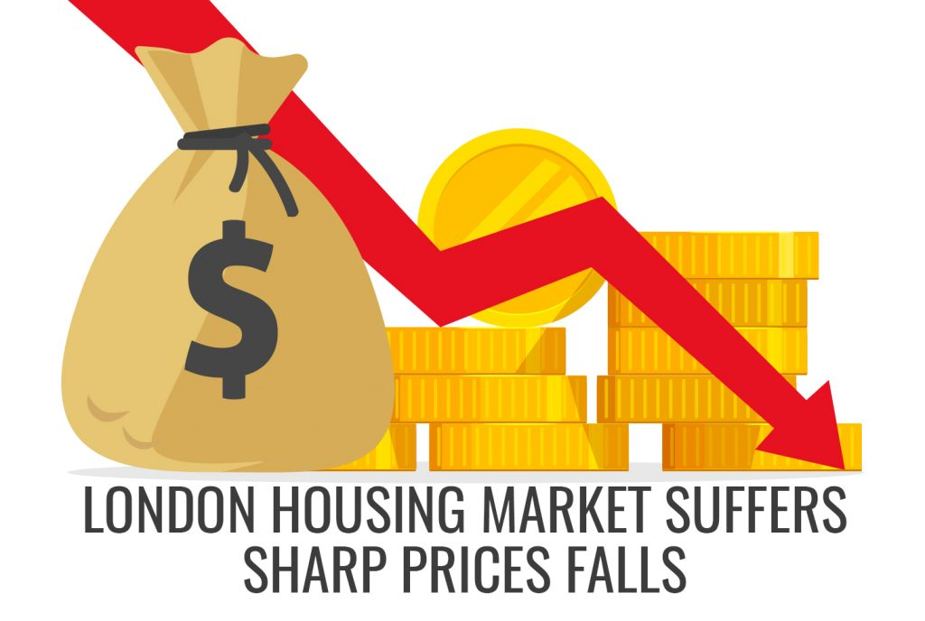 London housing market suffers sharp prices falls