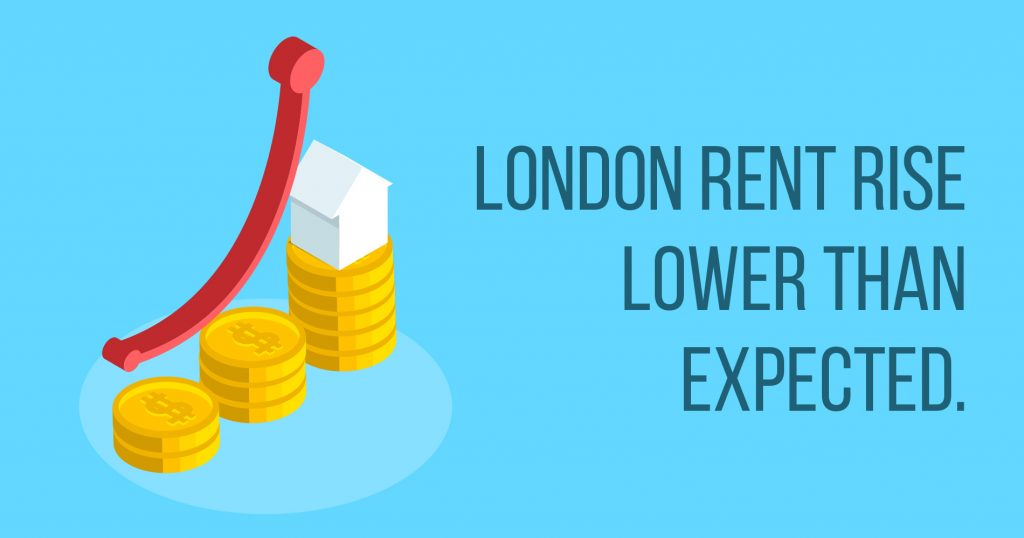 London rent rise lower than expected